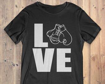 Boxing T-Shirt Gift: Love Boxing