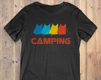 Camping T-Shirt Gift: Vintage Retro Style Camping
