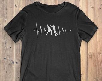 Boxing T-Shirt Gift: Heartbeat Boxing