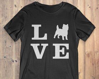 Cairn Terrier Dog T-Shirt Gift: I Love Cairn Terrier
