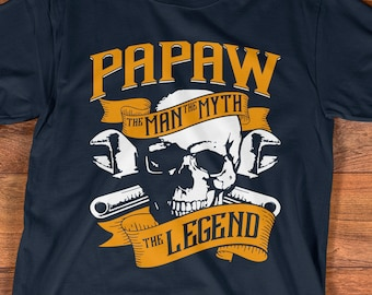 ce7084f3 Buy 2+ Get 30% OFF Papaw The Man The Myth The Legend Tee for Grandpa T-shirt,  Grandfather Shirt, Dad Shirt, Father's Day Gift