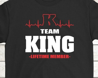 9dcc80f961 Buy 2+ Get 30% OFF King Birthday T-Shirt Heartbeat Funny Tee: Team King  Lifetime Member Men Women Tees