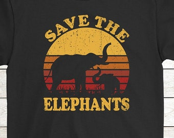 Buy 2+ Get 30% OFF Elephant Birthday T-Shirt Funny Tee  Save The Elephants  Men Women Tees 439798943