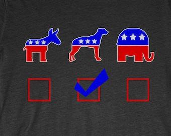Rhodesian Ridgeback T-Shirt Funny Gift: Vote Rhodesian Ridgeback For President