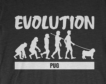 Pug Custom Dog T-Shirt Gift: Pug Evolution