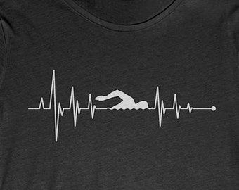 47100a0e Buy 2+ Get 30% OFF Swimming T-Shirt Tee: Heartbeat Swimming