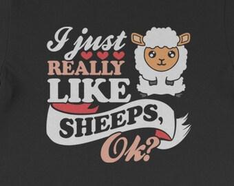 965f17c01 Buy 2+ Get 30% OFF Sheep Funny Tee T-Shirt: I Just Really Like Sheeps, Ok?