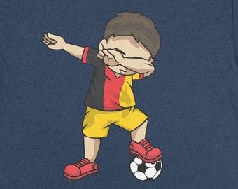 0dbe7112782 Buy 2+ Get 30% OFF Dabbing Soccer Boy Belgium T-Shirt Funny Tee: Belgian  Football
