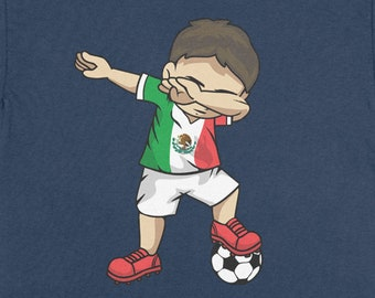 c1a418a671b Buy 2+ Get 30% OFF Dabbing Soccer Boy Mexico T-Shirt Funny Youth Tee: Mexican  Football