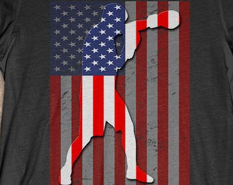 Boxing T-Shirt Gift: American Flag