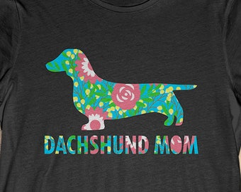 fd93ce55a Buy 2+ Get 30% OFF Flower Dachshund T-Shirt Funny Gift For Dog Lover :  Dachshund Mom