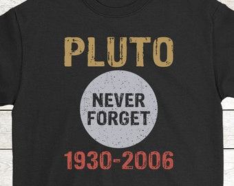 fbc23253a Buy 2+ Get 30% OFF Science T-Shirt Birthday Gift Funny Tee: Pluto Never  Forget 1930-2006