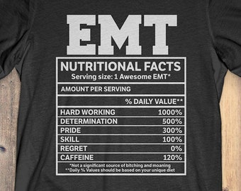 430f2afef Buy 2+ Get 30% OFF EMT Nutritional Facts T-shirt