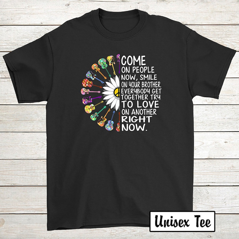 e9221903 Buy 2 Get 30% OFF Guitar Hippie Birthday T-Shirt Funny Tee: | Etsy