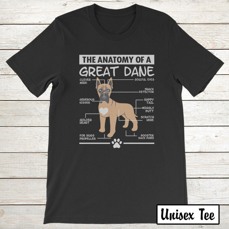 afd1a74fb Buy 2 Get 30% OFF Great Dane T-Shirt Funny Tee For Dog Lover: | Etsy