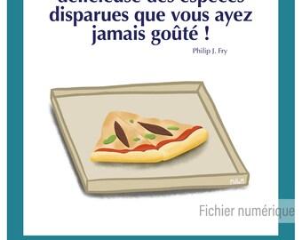 Affiche numérique - geek - série - illustration - cuisine - humour // Futurama
