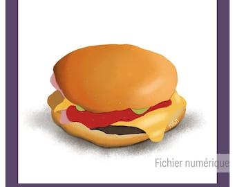 Digital poster - geek - movie - illustration - kitchen - fun // Pulp Fiction