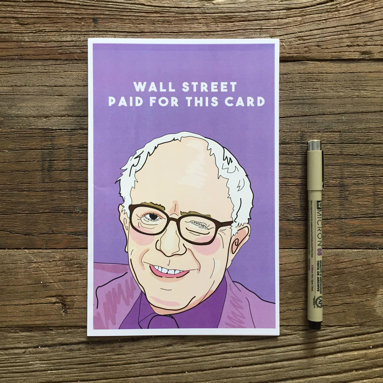 Bernie Sanders Greeting Card Etsy