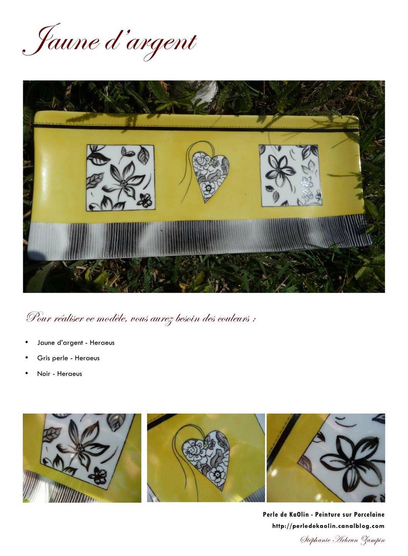 Tuto Peinture Sur Porcelaine jaune d'argent fiche créative peinture sur porcelaine
