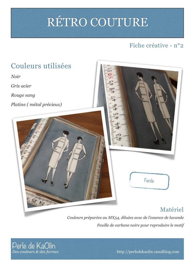 Rétro-couture  Fiche créative peinture sur porcelaine image 0