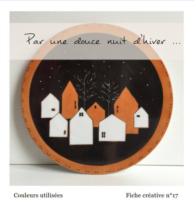 Par une douce nuit d'hiver  Fiche créative peinture sur image 0