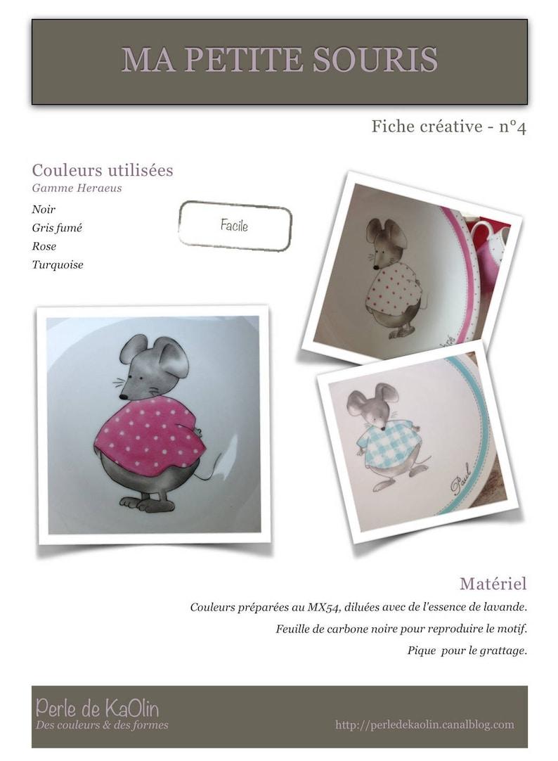Ma petite souris  Fiche créative peinture sur porcelaine image 0
