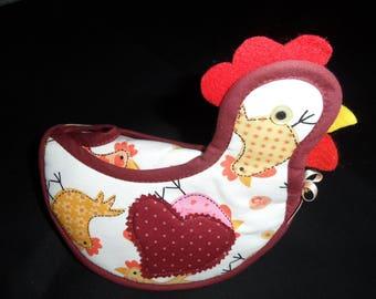 chicken pot holder make cotton chicken pattern