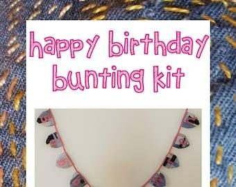 Happy Birthday Bunting Kit