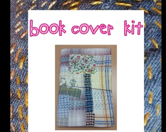 A4 Midori-style Book Cover hand sewing kit (Up to A4 Size)