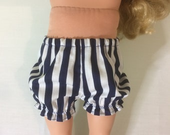 """Blue and White Striped Bloomers/underwear for 18"""" Doll"""