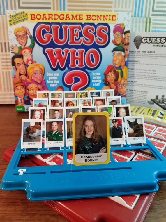 Personalized Guess Who Game Etsy