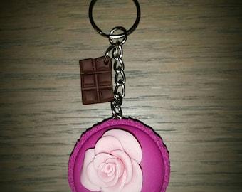 macaroon or bag charm Keyring