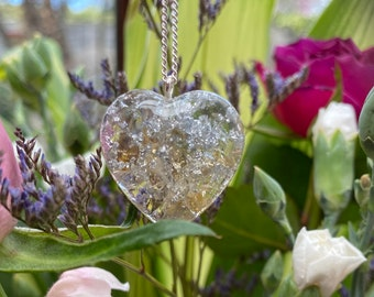 yoga meditation emf protection and spiritual development reiki Citrine  and gold leaf drop pendant for healing