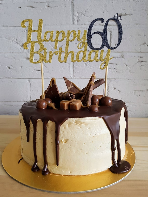 60th Birthday Cake Topper Toppers 60