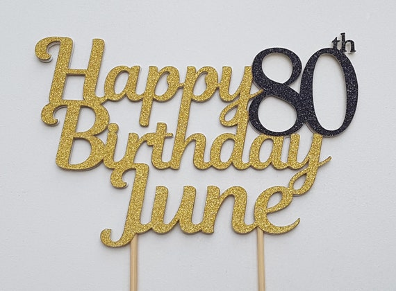 80th Birthday Cake Topper Decorations 80