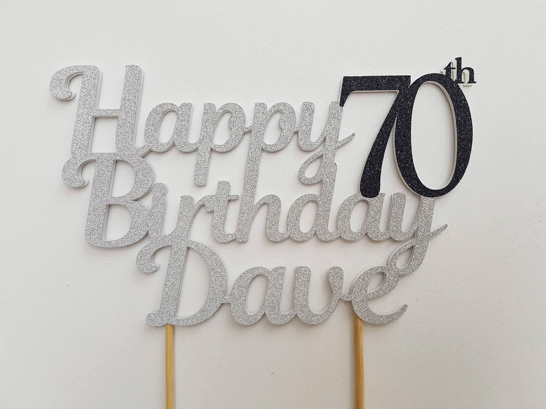 70th Birthday Cake Topper 70th Birthday Decorations 70 Cake Etsy