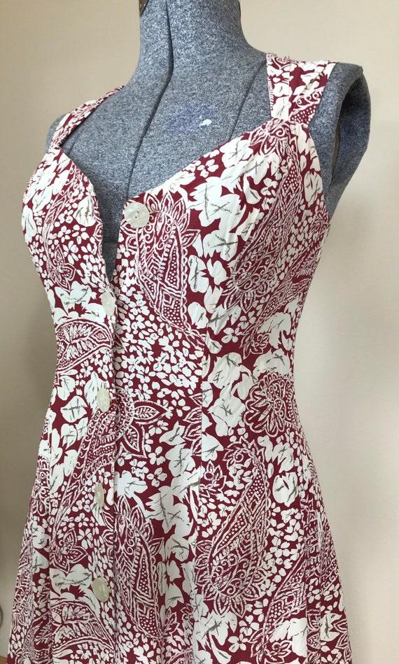 1990's Medium floral and paisley print dress