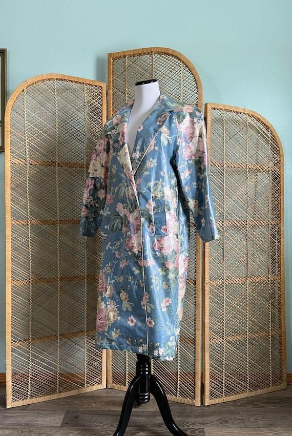 Vintage 1990's Nordic House Designs blue floral ra