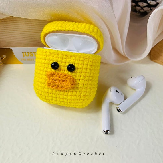 Custom AirPods Case Apple AirPods Pro Case Gray Shiba Inu AirPods Case Knitted Crochet AirPod Case Outfitters Crochet Airpods Case