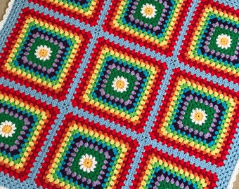 Rainbow baby  blanket , rainbow blanket , rainbow crochet blanket , baby blanket , rainbows
