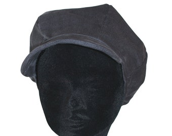 Grey newsboy cap mouse corduroy