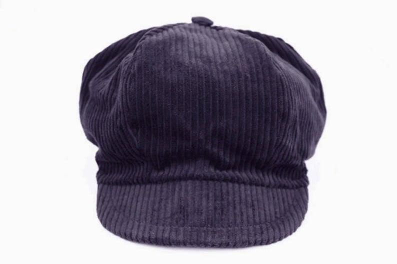 20ce4c0e2cb Velvet newsboy style cap ribbed gray