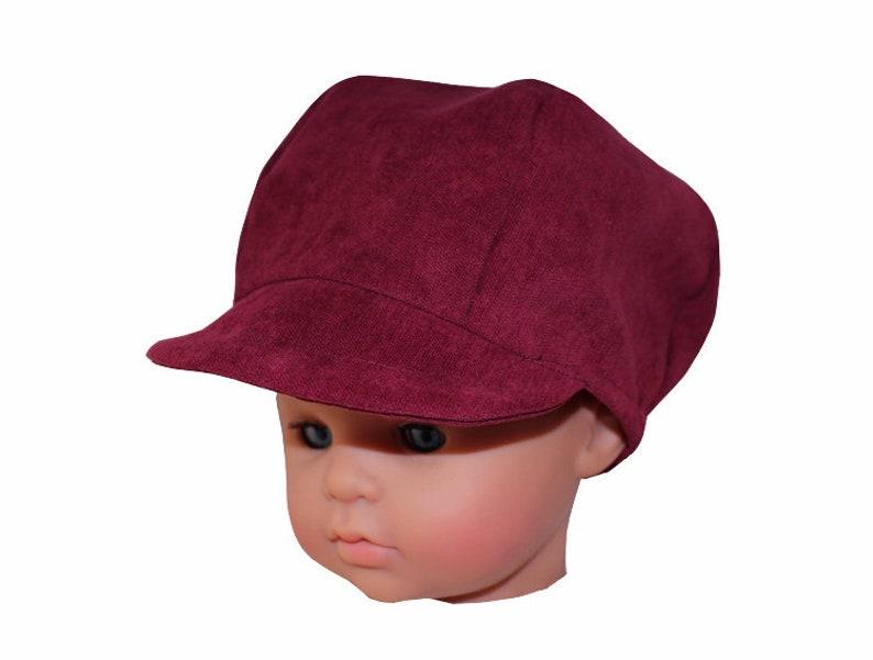 9359edff5ea64 Burgundy velvet Sweety newsboy cap | Etsy