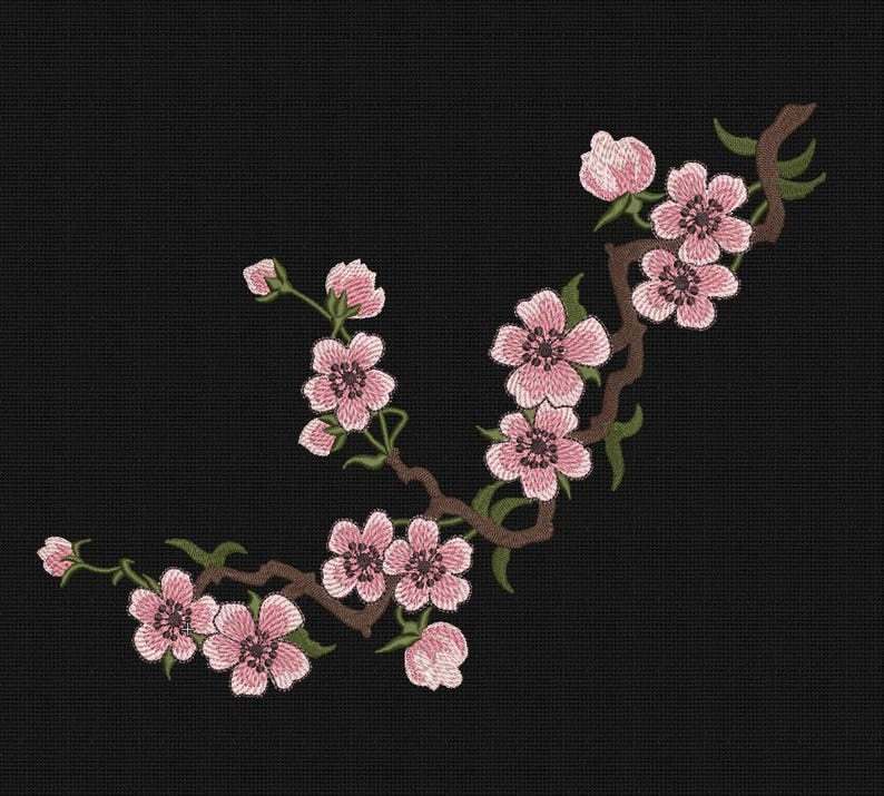 japanese sakura embroidery machine designs, instant download, SAKURA SALE  embroidery design, embroidery designs flowers, Art embroidery pes
