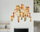 Farmhouse chandelier lighting in choice of 36 colours