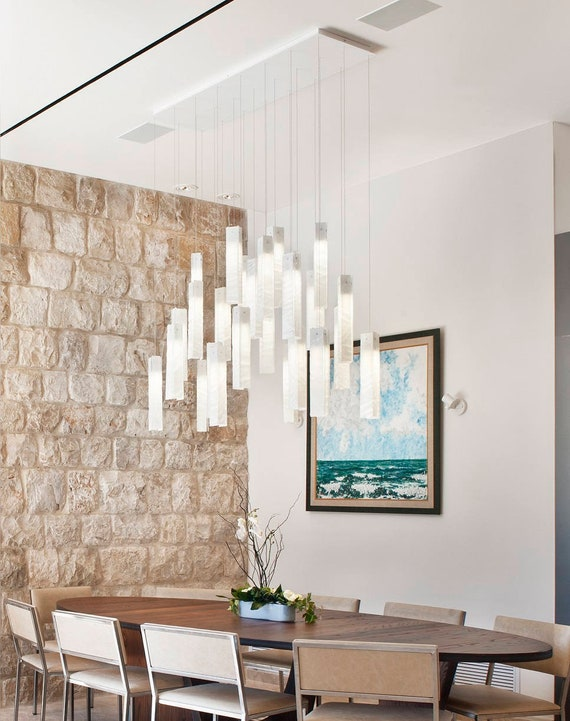 Large modern chandelier for dining room lighting
