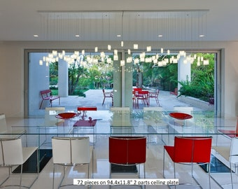 Modern Chandelier Dining Room Lighting, Modern Glass Pendant Light for Dine Lighting. This Art Glass Lighting is customized to your space