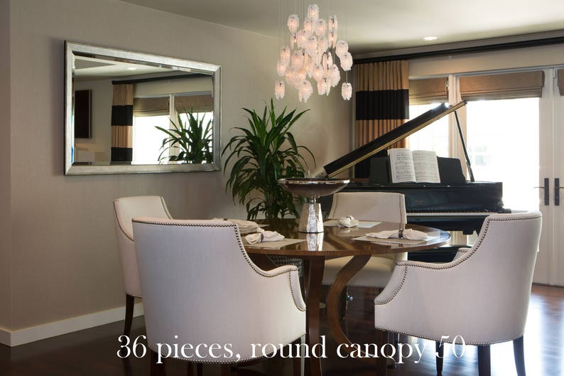 SALE Luxury Dining Room Chandelier Unique Hand Made Glass