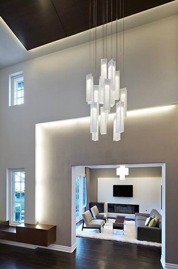Foyer Chandelier Pendant Light Modern Ceiling Light Fixture Etsy