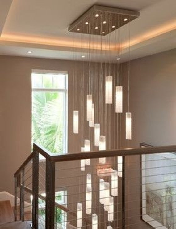Large Entryway Chandelier Lighting Modern Light Fixture For Etsy